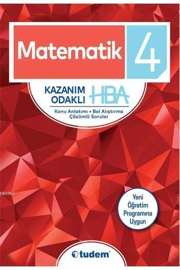 Tudem Yayınları 4. Sınıf Matematik Kazanım Odaklı HBA Tudem
