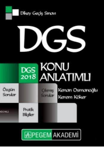2018 DGS Konu Anlatımlı