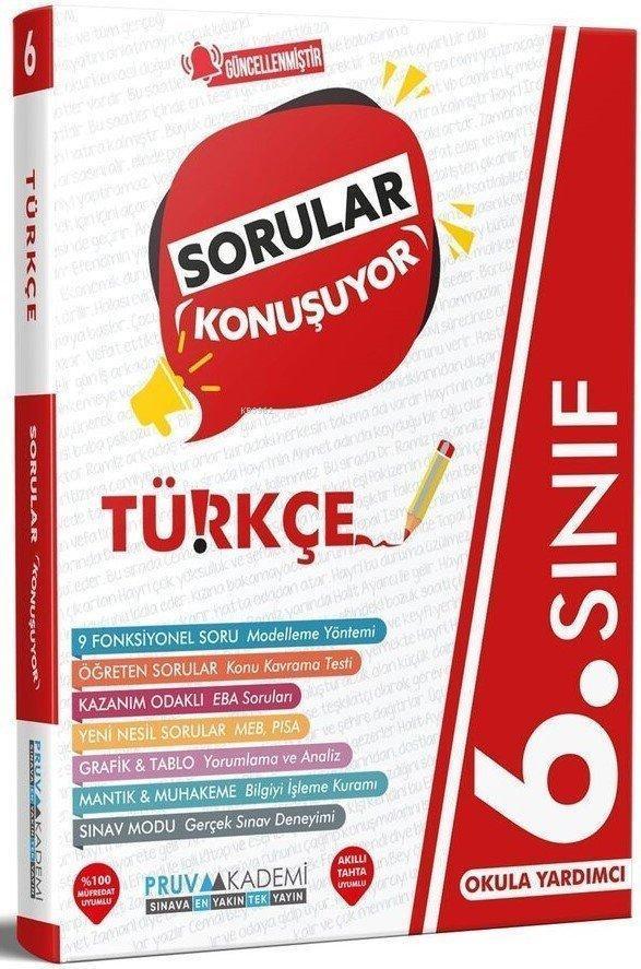 Pruva 6.Sınıf Türkçe Sorular Konuşuyor 2021