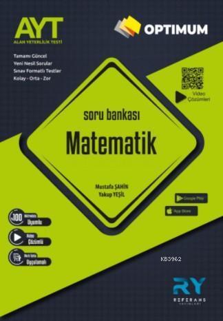Referans Optimum AYT Matematik Soru Bankası Video Çözümlü 2021