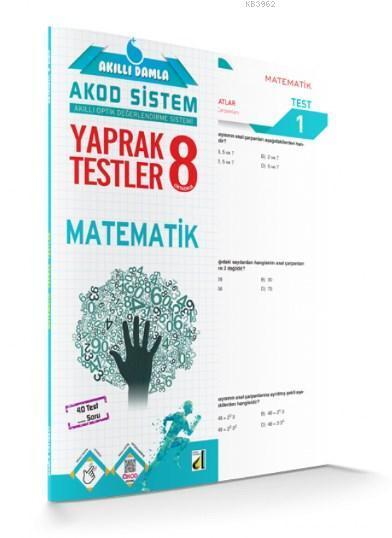 Akıllı Damla Matematik Yaprak Testler - 8.Sınıf; Akıllı Damla Akod Sistem (Akıllı Optik Değerlendirme Sistemi) Yaprak Testler