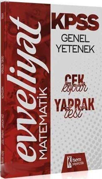 KPSS Genel Yetenek Matamatik Çek Kopar Yaprak Test 2020