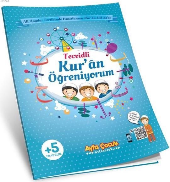 Kur'an Öğreniyorum (Ayfa-161M, Orta Boy, Mavi, Tecvidli); Çocuk Elif-Ba'sı