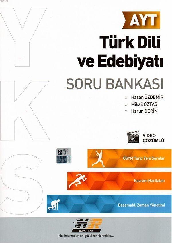 Hız ve Renk Yayınları AYT Türk Dili ve Edebiyatı Soru Bankası Hız ve Renk