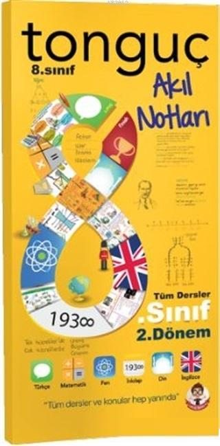 8.2 Akıl Notları; Türkçe Matematik Fen Bilimleri İnkılap Tarihi Din Kültürü İngilizce