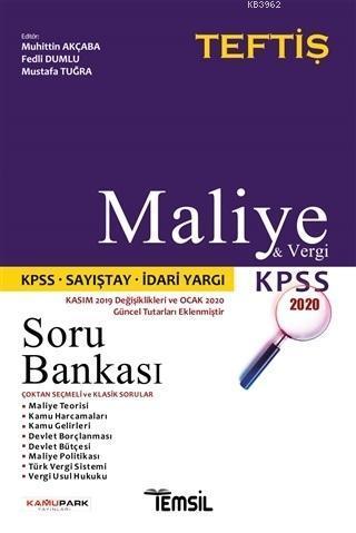 Maliye ve Vergi Hukuku Soru Bankası; KPSS 2020