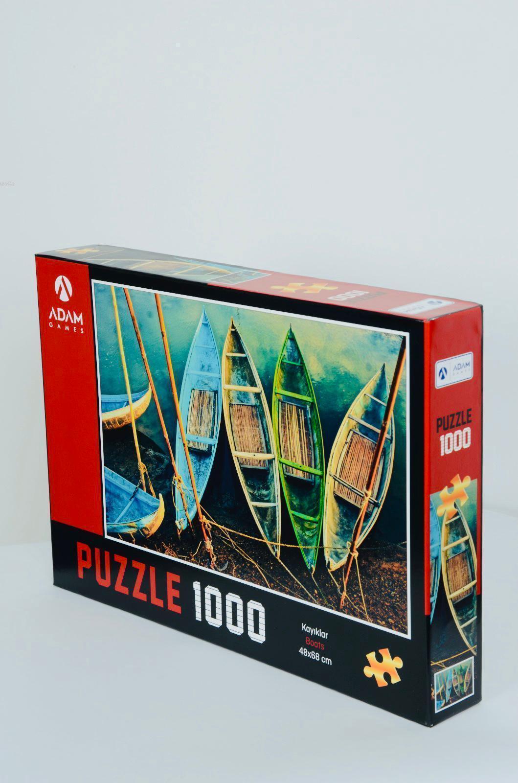 Adam Games Kayıklar 1000 Parça Puzzle 48x68