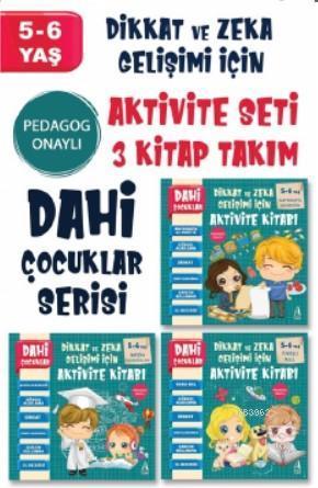 Dahi Çocuklar Aktivite Seti 5-6 Yaş - 3 Kitap Takım