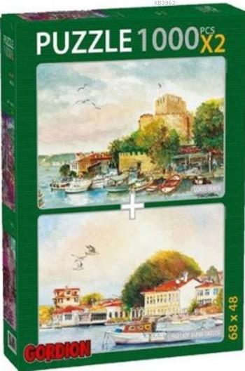Göksu Deresi Çengelköy Vapur Parça Puzzle Takım; 2X1000 Parça