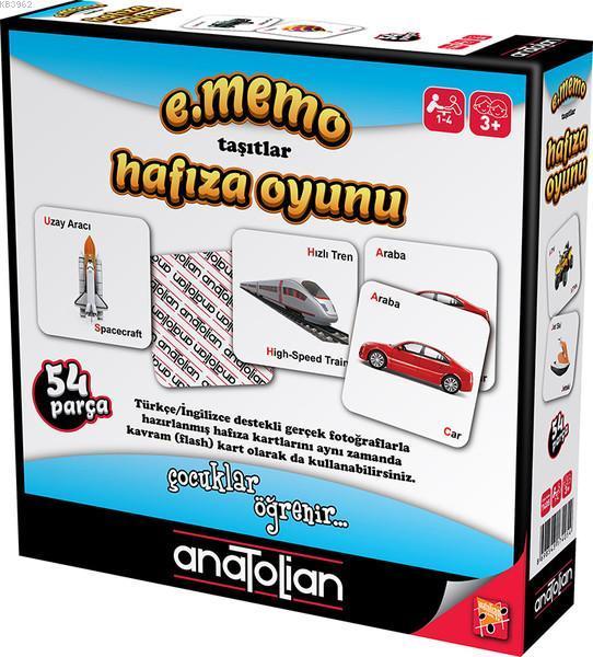 Anatolian-Memo Taşıtlar Hafıza Oyunu 54 Parça