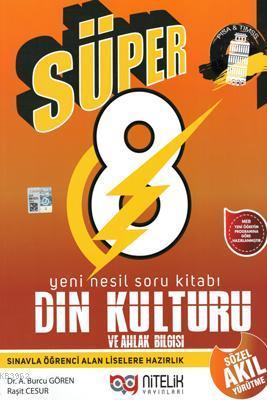 Nitelik Yayınları 8. Sınıf LGS Süper Din Kültürü ve Ahlak Bilgisi Yeni Nesil Soru Kitabı Nitelik