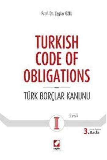 Turkish Code of Obligations (Ciltli); Türk Borçlar Kanunu