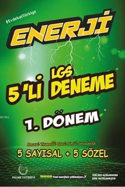 Palme Yayınları 8. Sınıf 1. Dönem LGS Enerji 5 li Deneme Palme