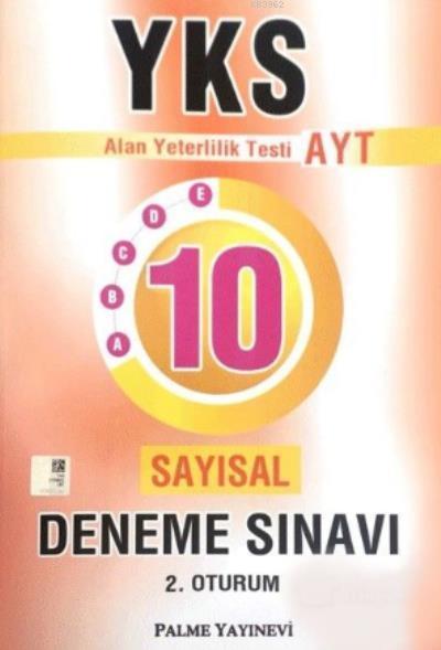 YKS AYT Sayısal 10 Deneme Sınavı 2. Oturum