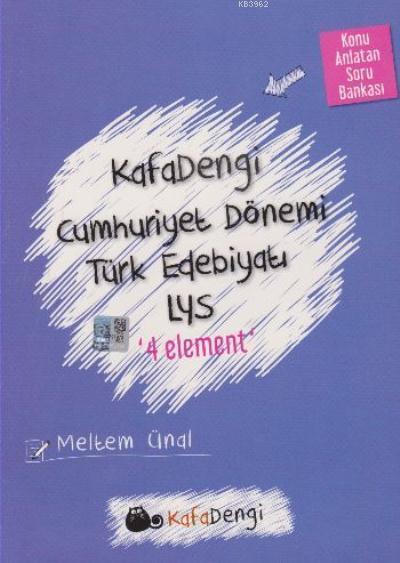 Cumhuriyet Dönemi Türk Edebiyatı Soru Bankası / 4 Element