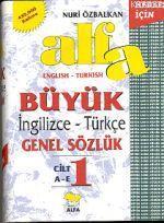 Alfa Büyük İngilizce - Türkçe Genel Sözlük (3 Cilt)