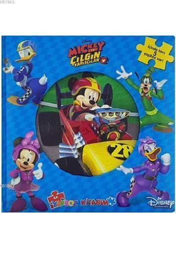 Disney Mickey ve Çılgın Yarışçılar - İlk Yapboz Kitabım (Ciltli)