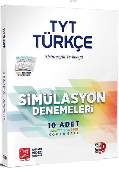 Çözüm Yayınları TYT Türkçe Tamamı Video Çözümlü Simülasyon Denemeleri Çözüm
