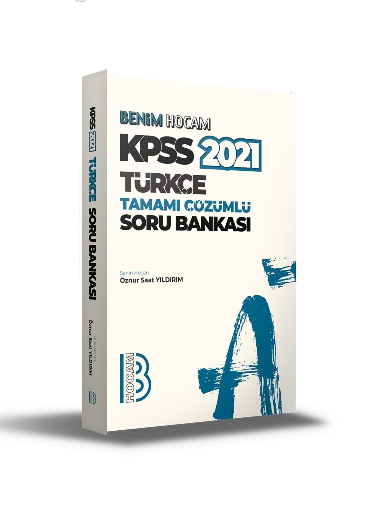 2021 KPSS Türkçe Tamamı Çözümlü Soru Bankası Benim Hocam Yayınları
