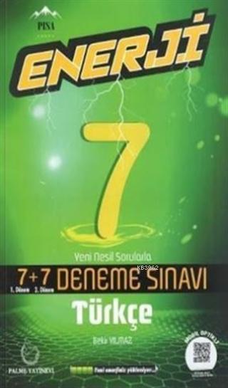Palme Yayınları 7. Sınıf Türkçe Enerji 7 + 7 Deneme Palme