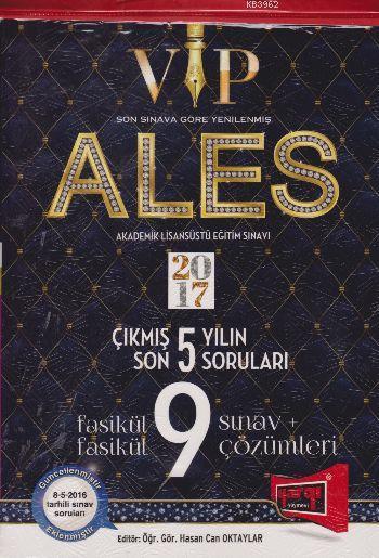 ALES VIP Son 5 Yılın Çıkmış Soruları Fasikül 9 Sınav Çözümleri 2017