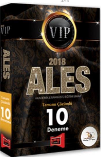2018 ALES VIP Tamamı Çözümlü 10 Deneme Yargı Yayınları