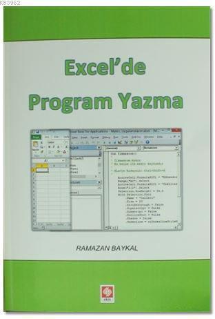 Excel'de Program Yazma