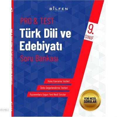 Bilfen Yayıncılık 9. Sınıf Pro&Test Türk Dili Ve Edebiyatı Soru Bankası