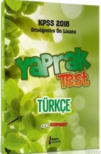 2018 KPSS Ortaöğretim Ön Lisans Türkçe Çek Kopar Yaprak Test