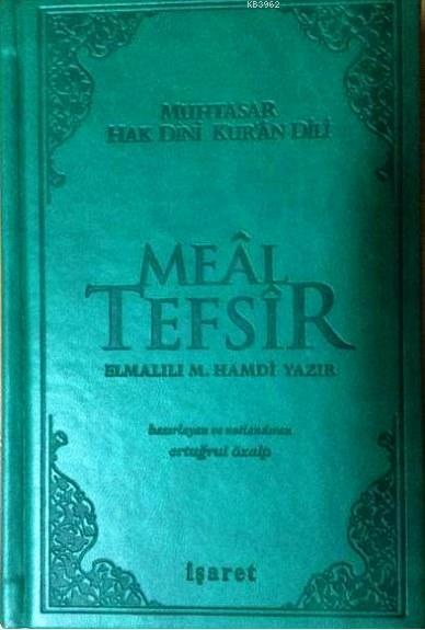 Muhtasar Hak Dini Kur'an Dili Meal Tefsir; Küçük Boy - Yeşil