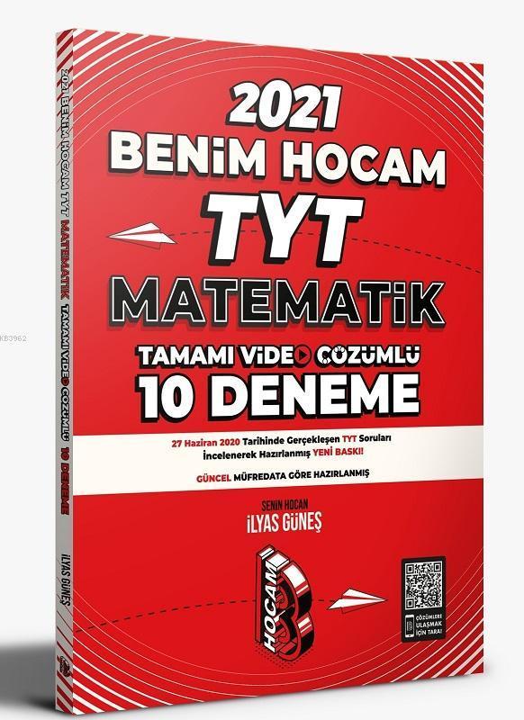 2021 TYT Matematik Tamamı Video Çözümlü 10 Deneme Sınavı Benim Hocam Yayınları