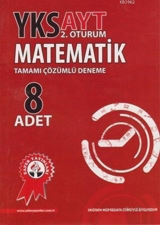 Zafer Yayınları AYT Matematik 8 Adet Tamamı Çözümlü Deneme Zafer