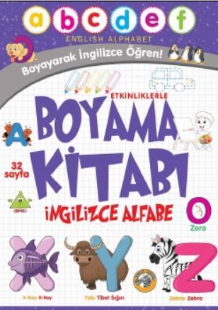 Etkinliklerle Boyama Kitabı İngilizce Alfabe