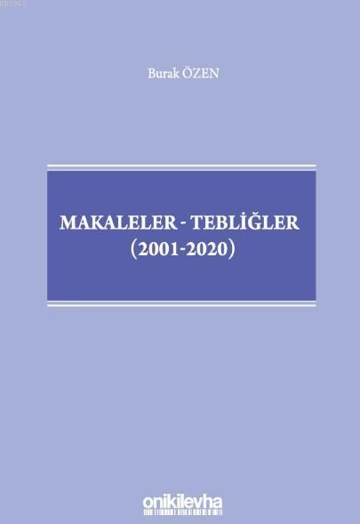 Makaleler-Tebliğler (2001-2020)