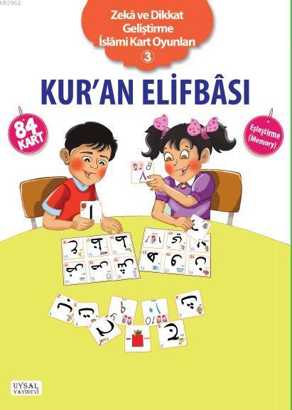 Zeka ve Dikkat Geliştirme İslami Kart Oyunları-3; KURAN ELİFBASI -Eşleştirme Oyunu