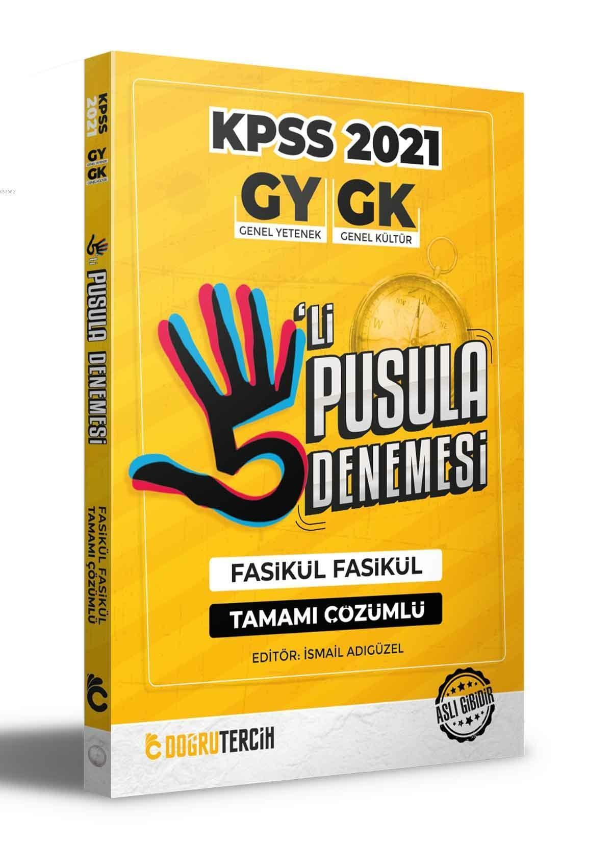 2021 KPSS Genel Yetenek Genel Kültür Çözümlü 5'li Pusula Denemesi