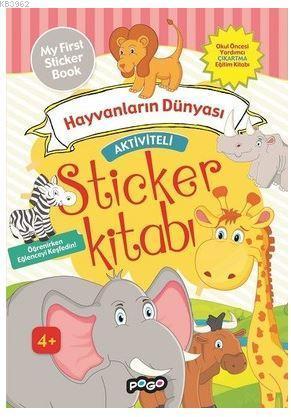 Aktiviteli Sticker Kitabı - Hayvanların Dünyası