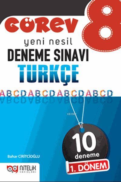 Nitelik Yayınları 8. Sınıf 1. Dönem LGS Türkçe Görev 10 Deneme Nitelik