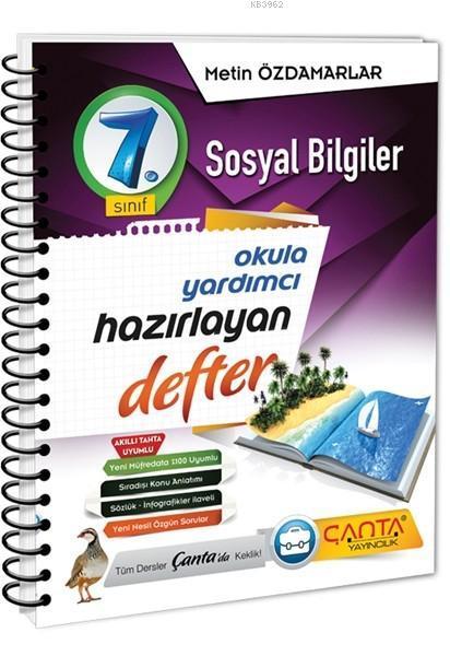 Çanta Yayınları 7. Sınıf Sosyal Bilgiler Hazırlayan Defter Çanta