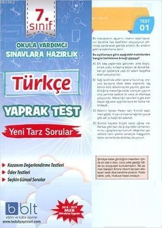 7. Sınıf Türkçe Yaprak Test