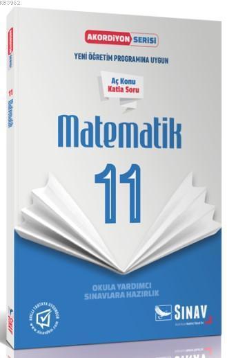 Sınav Dergisi Yayınları 11. Sınıf Matematik Akordiyon Serisi Aç Konu Katla Soru Sınav Dergisi