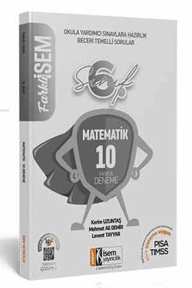 İsem Yayınları 6. Sınıf Matematik 10 Deneme İsem