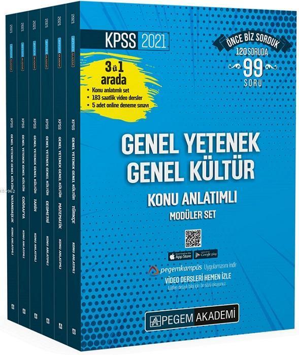 2021 KPSS Genel Yetenek Genel Kültür Konu Anlatımlı Modüler Set (6 Kitap) + En Güncel Video Dersler