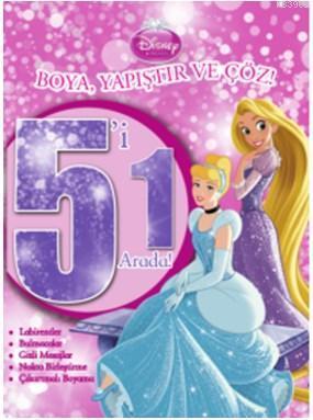 Disney Prensesler  5'i 1 Arada; Boya Yapıştır Çöz