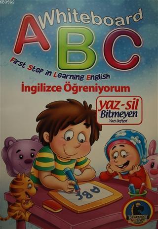 Whiteboard ABC First Step in Learning English / Yaz-Sil Bitmeyen Yazı Defteri; İngilizce Öğreniyorum