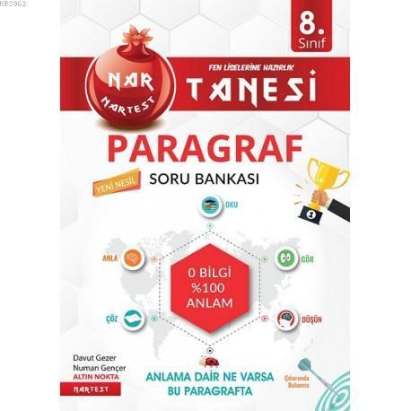 Nartest Yayınları 8. Sınıf LGS Paragraf Nar Tanesi Soru Bankası Nartest