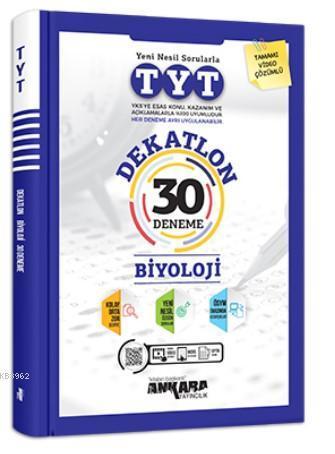 Ankara Yayıncılık TYT Dekatlon Biyoloji 30 Deneme