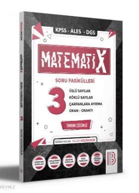 2021 KPSS ALES DGS MatematiX Soru Fasikülleri 3