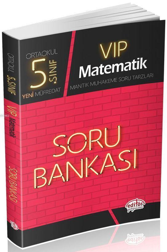 Editör Yayınları 5. Sınıf VIP Matematik Soru Bankası Editör