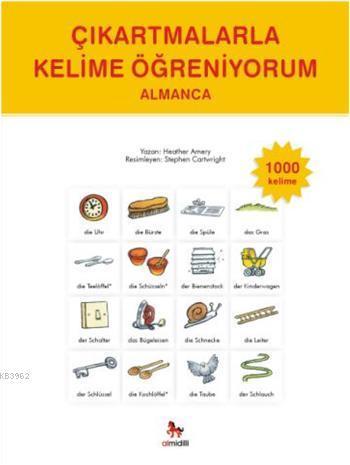 Çıkartmalarla Kelime Öğreniyorum Almanca-1000 Kelime